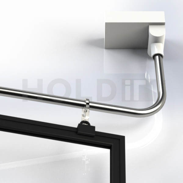 Magnetic Swing Arm A4 - Magnetic Swing Arm with Clips and A4 Frame with Sleeve